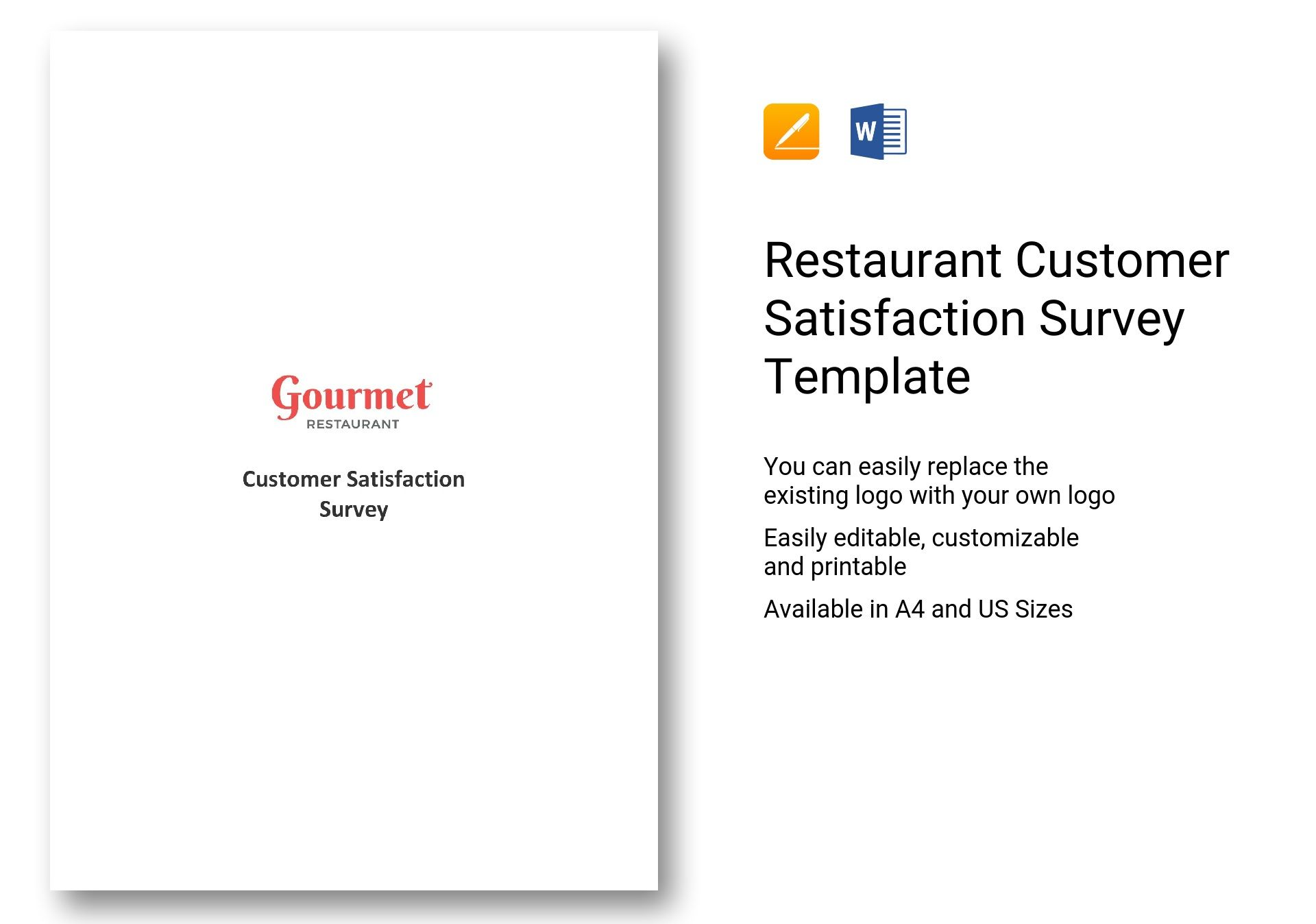 restaurant customer satisfaction survey template - questionnaire on restaurant customer satisfaction survey