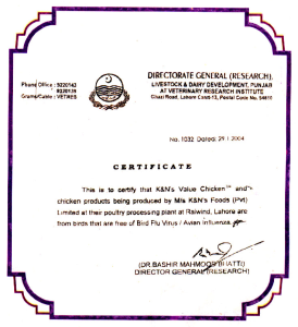 quality assurance certificate india kfc