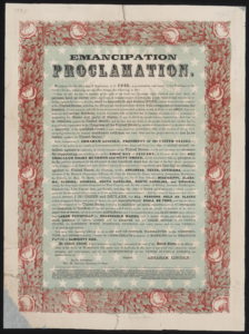 Emancipation declaration