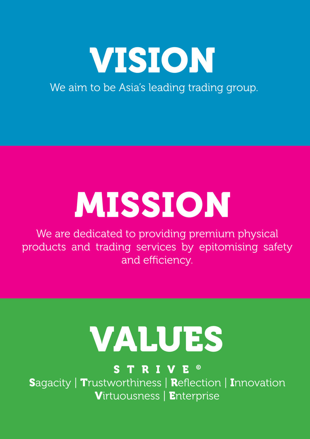 vision, mission and values guiding principles - strategic business