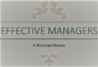 Qualities of Effective Managers