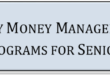 Daily Money Management Programs For Seniors