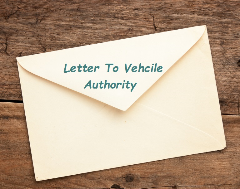 Sample Vehicle Authority Letter Format
