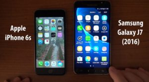 Comparison between Samsung J7 and iPhone 6s