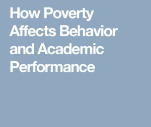 How Poverty Affects Behavior and Academic Performance