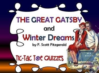 The Great Gatsby And Winter Dreams  Similarities And Differences The Great Gatsby And Winter Dreams