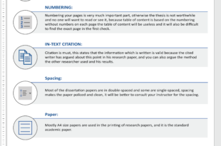 Dissertation Paper Format