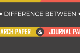 Difference Between Research Paper and Journal Paper