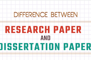 Difference between research paper and dissertation paper