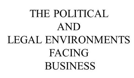 Political and Legal Environment Facing Business