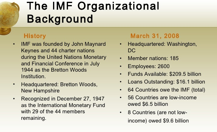 Purpose of International Monetary Fund (IMF)