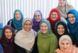 Young Muslim Women Wearing Hijab in America