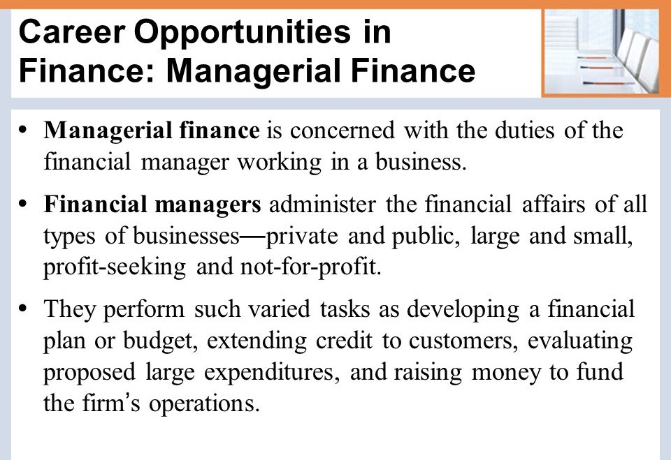 Financial Manager Career Planning