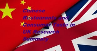 Chinese Restaurants and Consumer Taste in UK Research Summary