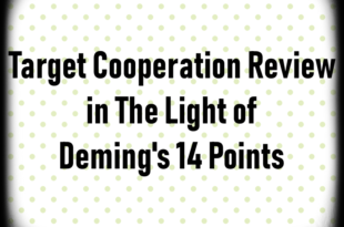 Target Cooperation Review in The Light of Deming's 14 Points
