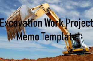 Excavation Work Project Memo Template