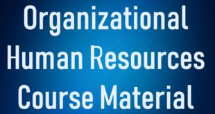 Organizational Human Resources Course Material