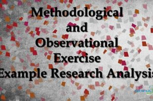 Methodological and Observational Exercise Example Research Analysis
