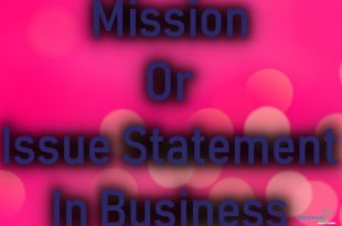 Mission or Issue Statement In Business with Example