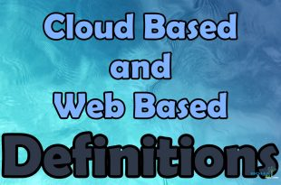 Different Cloud Based and Web Based Definitions
