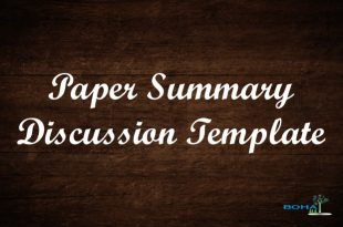 Paper Summary Discussion Example