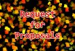 Request For Proposals by Product and Service