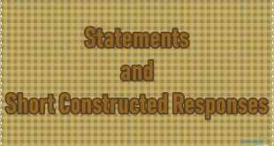 Statements and Short Constructed Responses