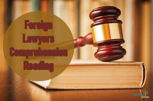 Foreign Lawyers Comprehension Reading