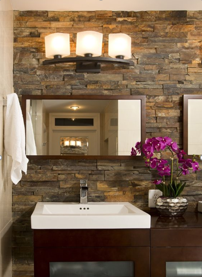 40 Stone Wall Designs And Styles, Bathroom Stone Wall