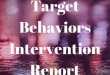 Targeted Behavioral Intervention Report
