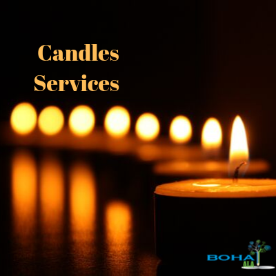 Candles Services Advertisement Example