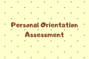 Personal Orientation Assessment Example