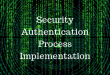 Microsoft Security and Authentication Process Implementation