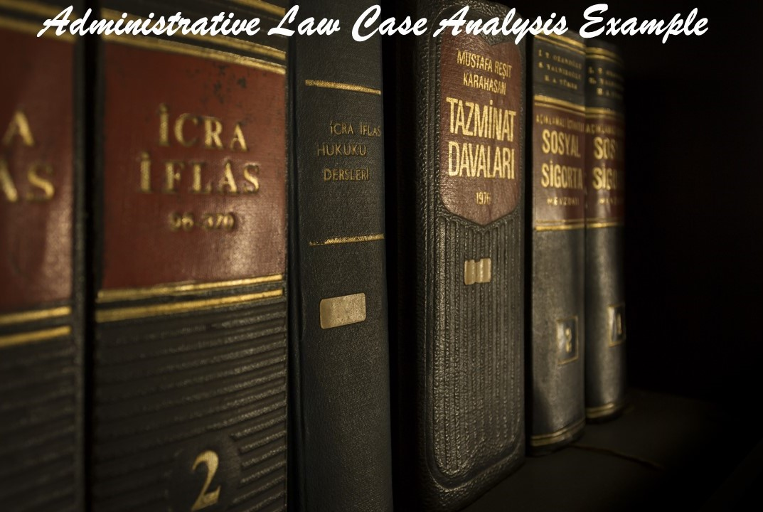 Administrative Law Case Analysis Example