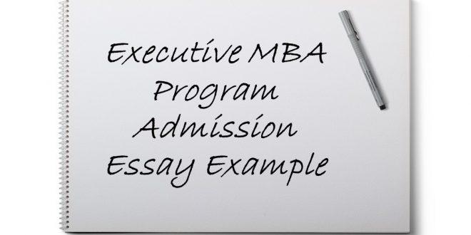 Executive mba essays