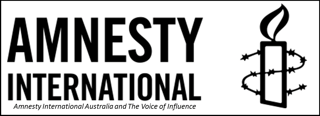 Amnesty International Australia and The Voice of Influence