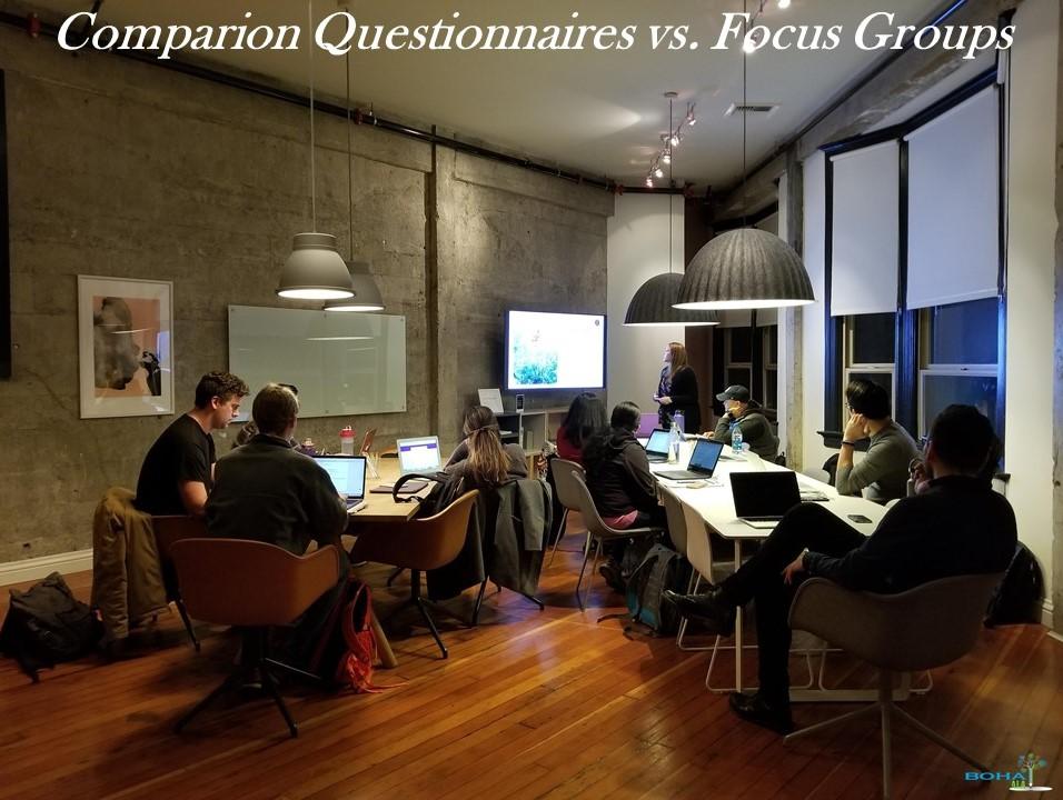 Comparison Questionnaires vs. Focus Groups