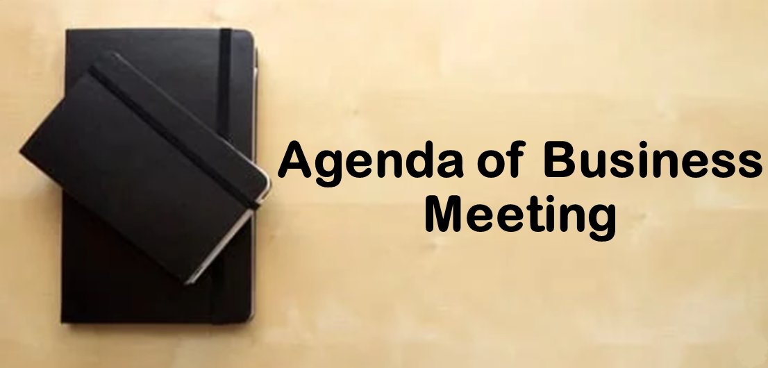Sample Agenda Business Meeting Example