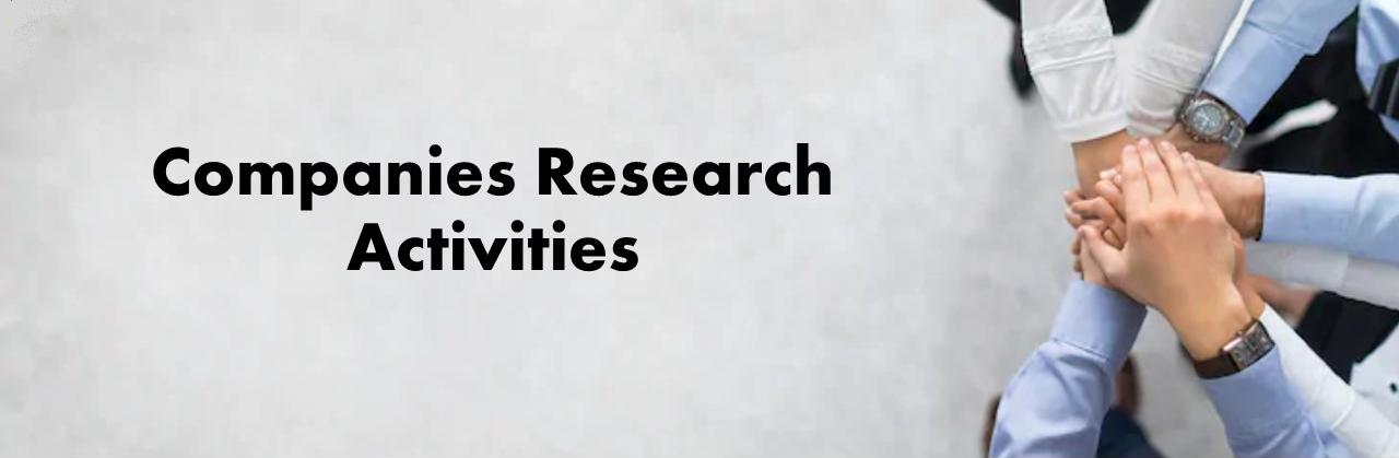 Companies Research Activities