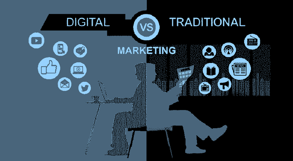 Comparison Between Online Marketing vs.Traditional Marketing