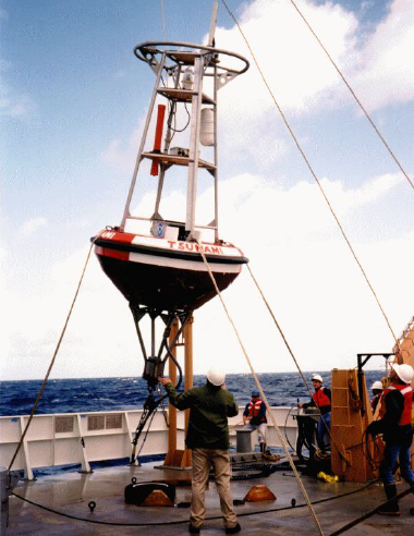 Dart Buoy Being Prepared for Deployment